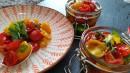 Getrocknete Tomaten auf Vorrat im Kräuteröl