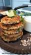 Quinoa- Gemüse- Bratlinge mit leckerem weißen Bohnen- Dip