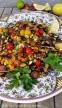 Sommerlicher Auberginensalat